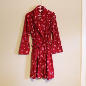 NWT Charter Club Holiday Snowflakes Bath Robe